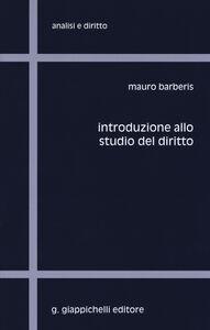 Libro Introduzione allo studio del diritto Mauro Barberis
