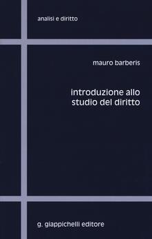 Introduzione allo studio del diritto - Mauro Barberis - copertina