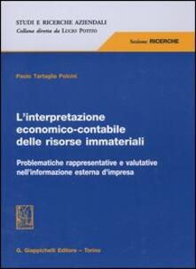 Premioquesti.it L' interpretazione economico-contabile delle risorse immateriali. Problematiche rappresentative e valutative nell'informazione esterna d'impresa Image