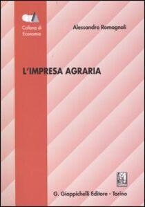 Foto Cover di L' impresa agraria, Libro di Alessandro Romagnoli, edito da Giappichelli
