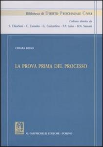 Libro La prova prima del processo Chiara Besso