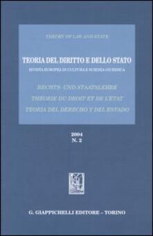 Capturtokyoedition.it Teoria del diritto e dello Stato. Rivista europea di cultura e scienza giuridica (2004). Vol. 2 Image