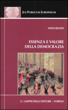 Essenza e valore della democrazia - Hans Kelsen - copertina