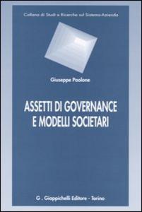 Libro Assetti di governance e modelli societari Giuseppe Paolone