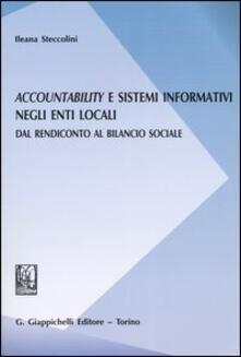 Camfeed.it Accountability e sistemi informativi negli enti locali. Dal rendiconto al bilancio sociale Image