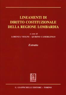 Osteriacasadimare.it Lineamenti di diritto costituzionale della regione Lombardia. Estratto Image