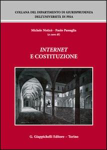 Internet e Costituzione. Atti del Convegno (Pisa, 21-22 novembre 2013) - copertina