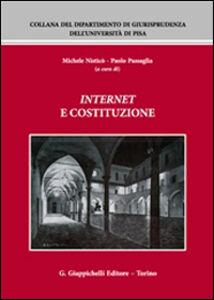 Foto Cover di Internet e Costituzione. Atti del Convegno (Pisa, 21-22 novembre 2013), Libro di  edito da Giappichelli