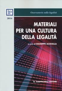 Libro Materiali per una cultura della legalità