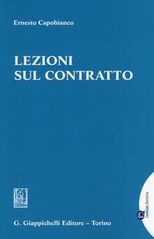 Lezioni sul contratto - Ernesto Capobianco - copertina