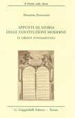 Libro Appunti di storia delle costituzioni moderne. Le libertà fondamentali Maurizio Fioravanti