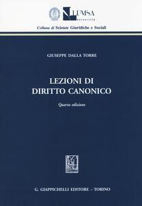 Lezioni di diritto canonico - Giuseppe Dalla Torre - copertina