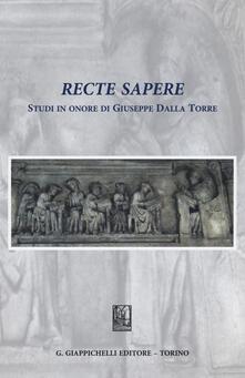 Fondazionesergioperlamusica.it Recte sapere. Studi in onore di Giuseppe Dalla Torre Image
