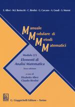 Manuale modulare di metodi matematici. Modulo 2/3: Elementi di analisi matematica