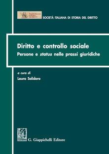 Amatigota.it Diritto e controllo sociale. Persone e status nelle prassi giuridiche Image