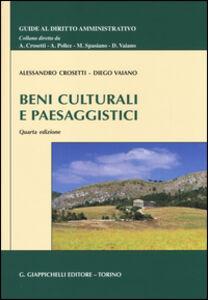 Libro Beni culturali e paesaggistici Alessandro Crosetti , Diego Vaiano