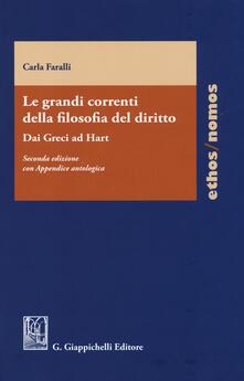 Le grandi correnti della filosofia del diritto. Dai greci ad Hart - Carla Faralli - copertina