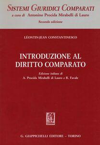 Foto Cover di Introduzione al diritto comparato, Libro di Leontin-Jean Constantinesco, edito da Giappichelli
