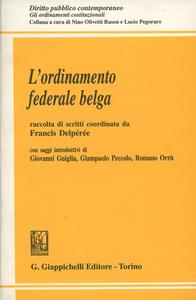 Libro L' ordinamento federale belga Francis Delperee