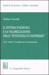 Libro Il sistema d'azienda e la valorizzazione delle «potenzialità inespresse». Una «visione» strategica per il risanamento Stefano Garzella