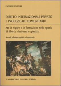 Diritto internazionale privato e processuale comunitario. Atti in vigore e in formazione nello spazio di libertà, sicurezza e giustizia