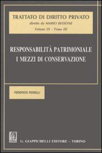 Foto Cover di Responsabilità patrimoniale. I mezzi di conservazione. Vol. 9\3, Libro di Federico Roselli, edito da Giappichelli
