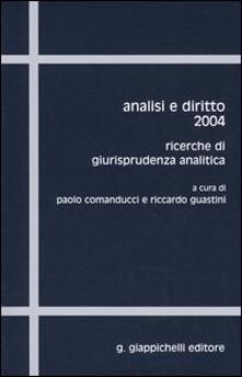 Antondemarirreguera.es Analisi e diritto 2004. Ricerche di giurisprudenza analitica Image