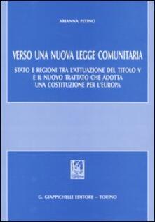 Parcoarenas.it Verso una nuova legge comunitaria. Stato e regioni tra l'attuazione del titolo V e il nuovo trattato che adotta una Costituzione per l'Europa Image