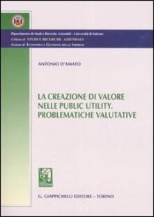 Ascotcamogli.it La creazione di valore nelle public utility. Problematiche valutative Image