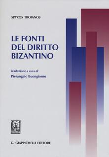 Le fonti del diritto bizantino