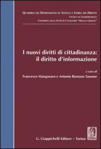 Libro I nuovi diritti di cittadinanza: il diritto d'informazione