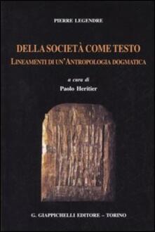 Antondemarirreguera.es Della società come testo. Lineamenti di un'antropologia dogmatica Image