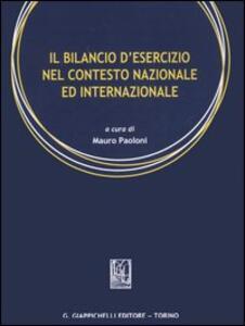 Il bilancio d'esercizio nel contesto nazionale ed internazionale