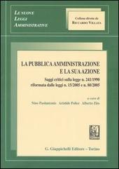 La pubblica amministrazione e la sua azione