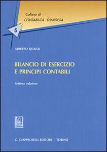 Foto Cover di Bilancio di esercizio e principi contabili, Libro di Alberto Quagli, edito da Giappichelli