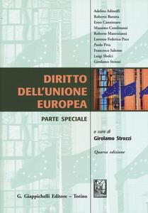 Diritto dell'Unione Europea. Parte speciale