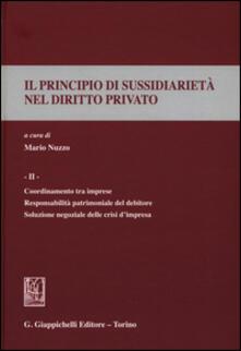 Daddyswing.es Il principio di sussidiarietà nel diritto privato. Vol. 2: Coordinamento tra imprese. Responsabilità patrimoniale del debitore. Soluzione negoziale delle crisi d'impresa. Image