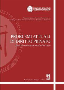 Foto Cover di Problemi attuali di diritto privato. Studi in memoria di Nicola Di Prisco, Libro di  edito da Giappichelli