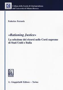 Voluntariadobaleares2014.es «Rationing justice». La selezione dei ricorsi nelle Corti supreme di Stati Uniti e Italia Image