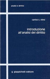 Libro Introduzione all'analisi del diritto Carlos S. Nino