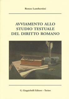 Promoartpalermo.it Avviamento allo studio testuale del diritto romano Image