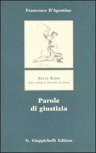 Libro Parole di giustizia Francesco D'Agostino