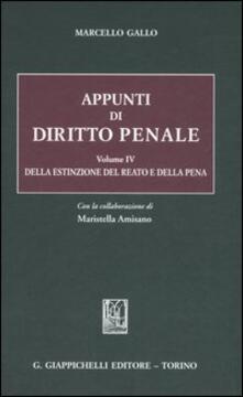 Antondemarirreguera.es Appunti di diritto penale. Vol. 4: Della estinzione del reato e della pena. Image