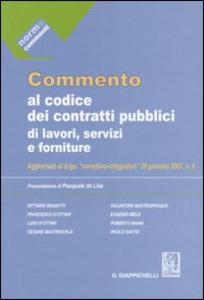 Libro Commento al codice dei contratti pubblici di lavori, servizi e forniture