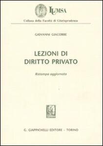 Libro Lezioni di diritto privato Giovanni Giacobbe