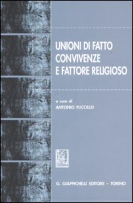 Unioni di fatto, convivenze e fattore religioso - copertina