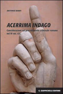 Winniearcher.com Acerrima indago. Considerazioni sul procedimento criminale romano nel IV sec. d.C. Image