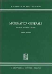 Matematica generale. Esercizi e complementi