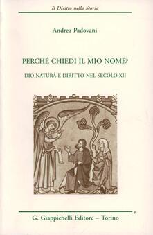Daddyswing.es Perché chiedi il mio nome? Dio, natura e diritto nel secolo XII Image