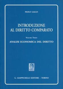 Listadelpopolo.it Introduzione al diritto comparato. Vol. 3: Analisi economica del diritto. Image